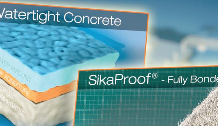 Waterproof concrete systems