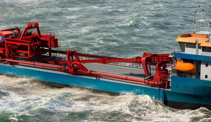 Trailing suction hopper dredger.