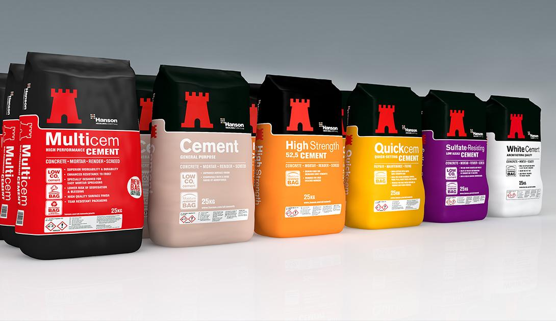 Packed cement products.
