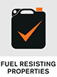 Fuel resisting properties.