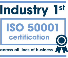 Industry 1st - ISO 50001 certification across all lines of business.