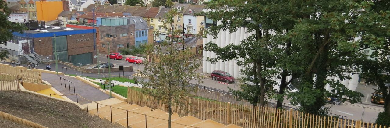 Colourcrete project in Payers Park, Folkestone.