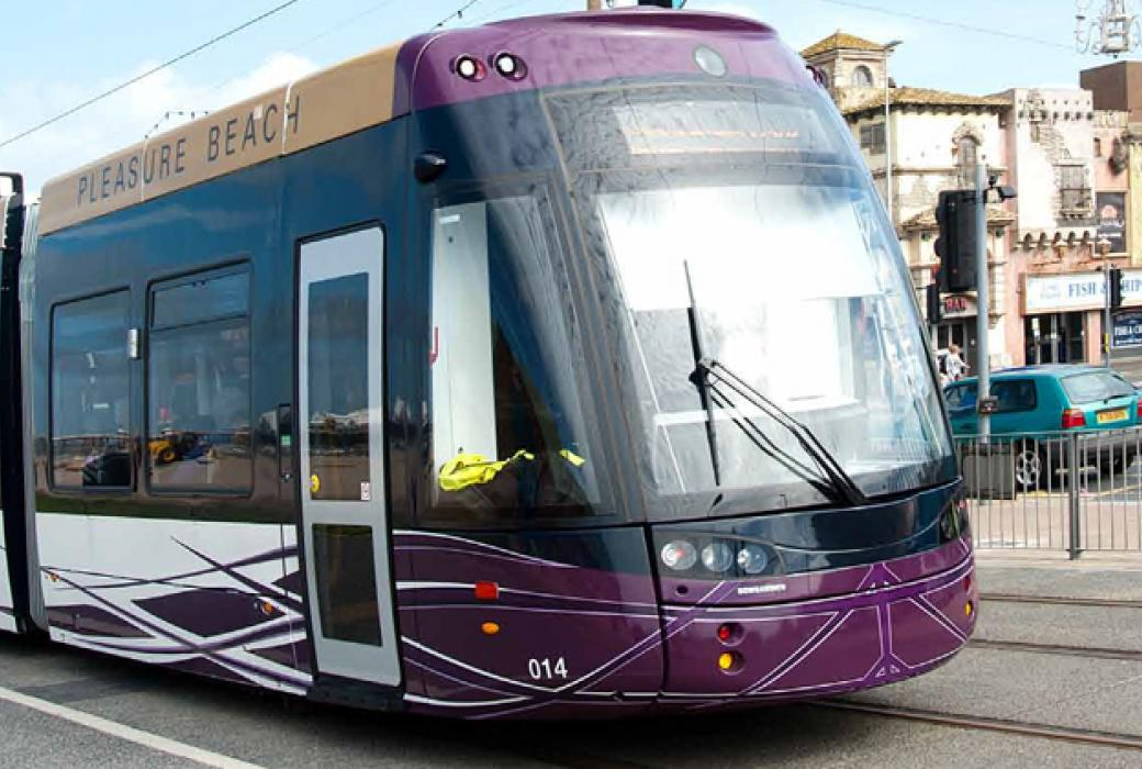 £100 million refurbishment to Blackpool tram infrastructure.
