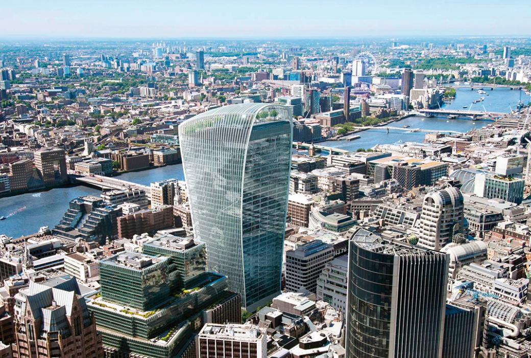 20 Fenchurch street has been nicknamed the Walkie-Talkie because of its distinctive shape.